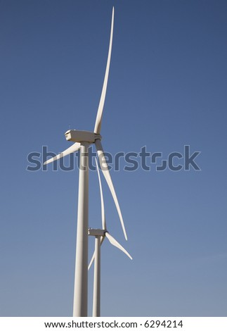 two wind generators on the prairie