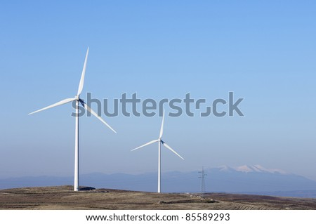two windmills for electric power generation alternative