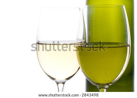 Two wine glasses - stock photo
