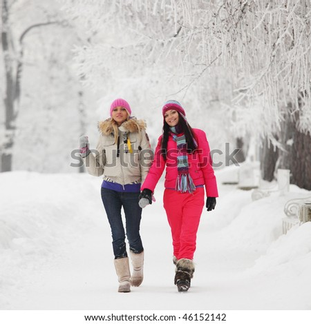 two winter woman