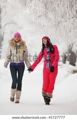 two winter women