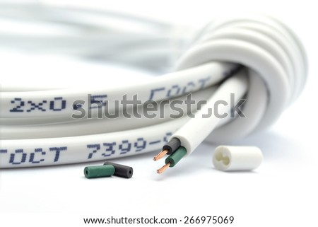 Two-wire braid cable for electricity