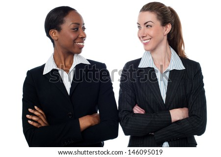 Two women employers posing together