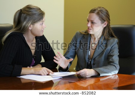 Two women in a meeting