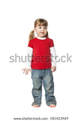 Two years old Girl isolated on white background