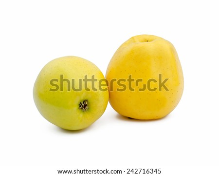 two yellow apple
