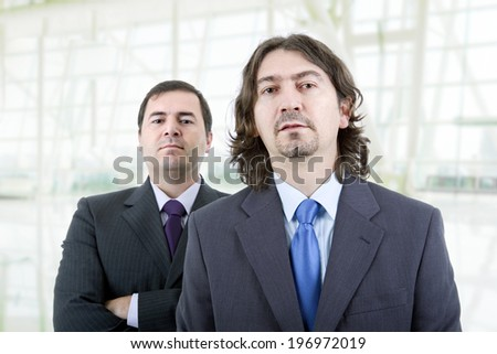 two young business men at the office - stock photo