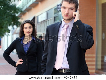 two young professionals business people male stock photo royalty