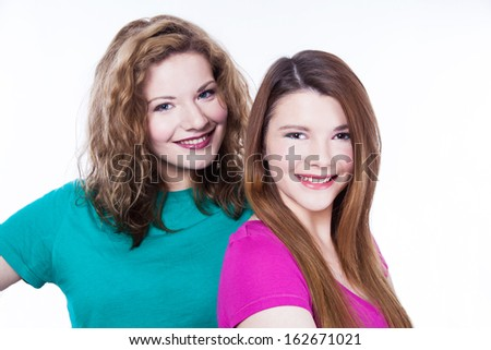 Two young women friends