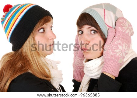 two young women in wither clothes