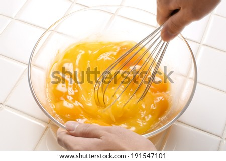 Ty to come home-cooked meals using eggs - stock photo