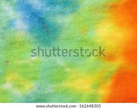 Tye die shirt background - stock photo