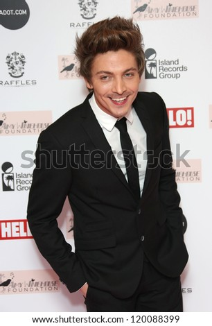 Tyler James arriving at the The Amy Winehouse foundation ball held at the Dorchester hotel, London. 20/11/2012 Picture by: Henry Harris