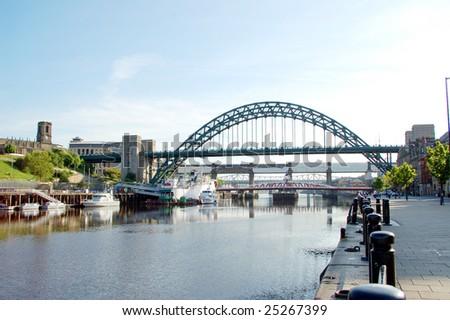 Tyne Bridge between Gateshead and Newcastle in United Kingdom - stock photo