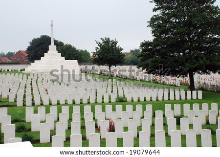 Tyne Cot brittish memorial cemetery of the first world war in Passendaele (Flanders Fields)