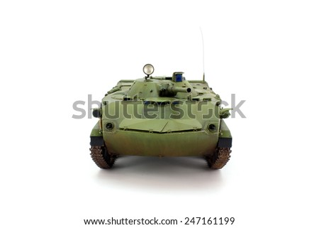 Type in the front scale model, tank - stock photo