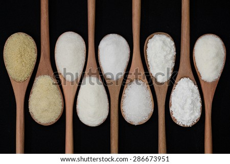 Types of sugar cane - stock photo
