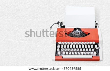 Typewriter. - stock photo