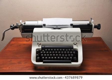 typewriter - stock photo