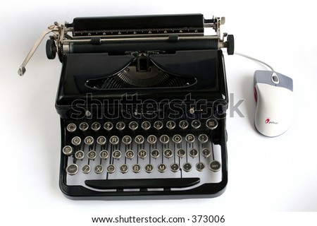 Typewriter and computer mouse