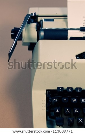 Typewriter close up - stock photo