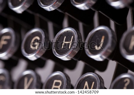 typewriter keys boken - stock photo