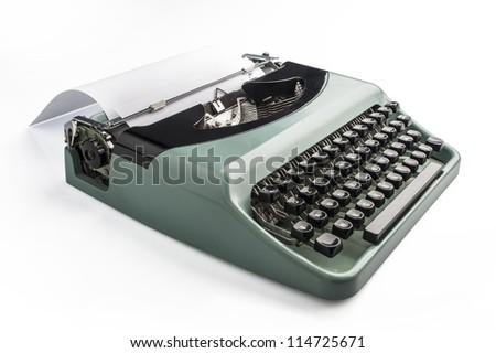 typewriter on white background - stock photo