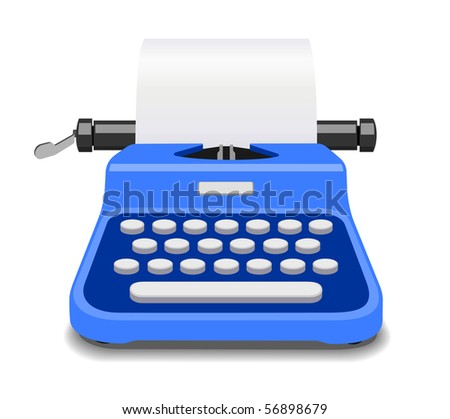 typewriter -- see vector edition in portfolio - stock photo