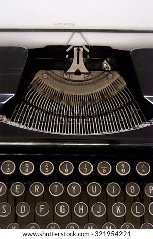 Typewriter with message