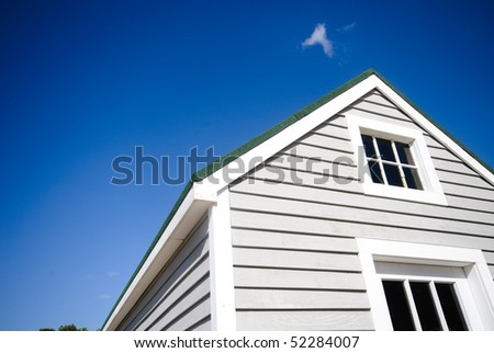 Typical american family house - stock photo