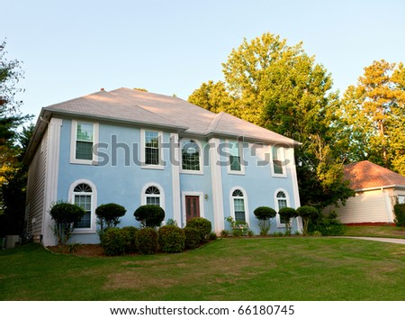 typical american house - stock photo