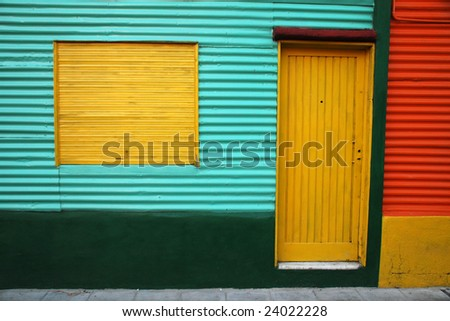 Typical and picturesque home in La Boca neighborhood. Buenos Aires, Argentina - stock photo