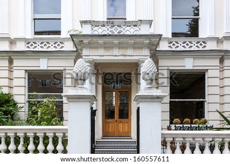 Typical apartment in Notting Hill, London - stock photo