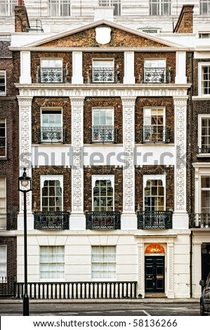 Typical Apartments Building at Central-London, (Westminster) - stock photo