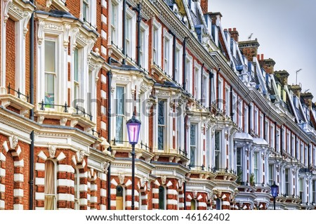 Typical Apartments Building at West-London. - stock photo
