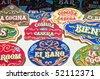 Typical argentinian artwork called fileteado at Feria de Mataderos Fair in buenos Aires, Argentina - stock photo