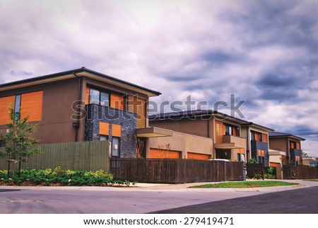 typical Australian houses. Melbourne,Australia - stock photo