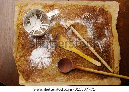 Typical baking tools - stock photo