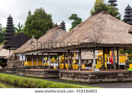 Typical balinese temple on Bali, Indonesia - stock photo