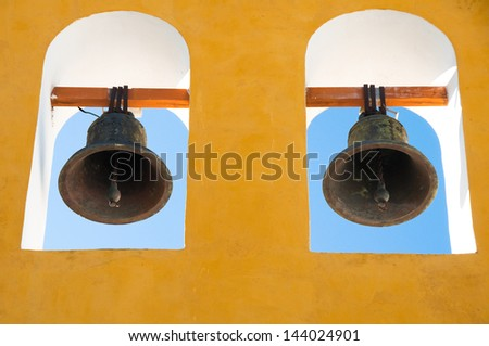 Typical belfry in Campeche (Mexico) - stock photo