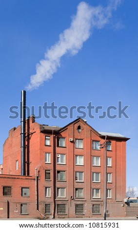 Typical brick industrial building in St.-Petersburg, Russia