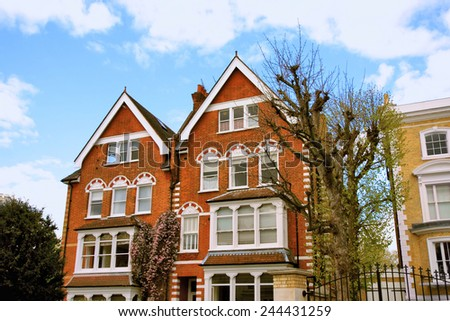 Typical British Houses - stock photo