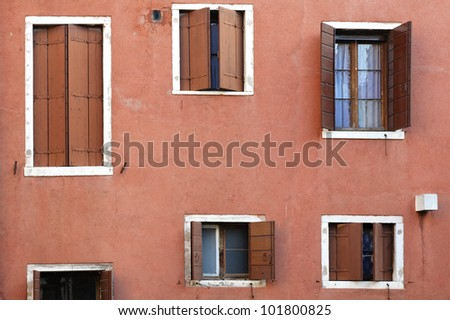 Typical building exterior in Venice, Italy