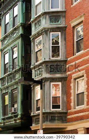 Typical building of historical North End, Boston
