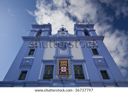 Typical church on the Terceira Island - Azores, Portugal - stock photo