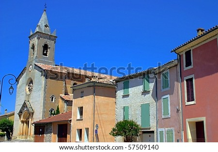 Typical city in Provence - stock photo