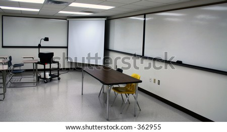 typical classroom - stock photo