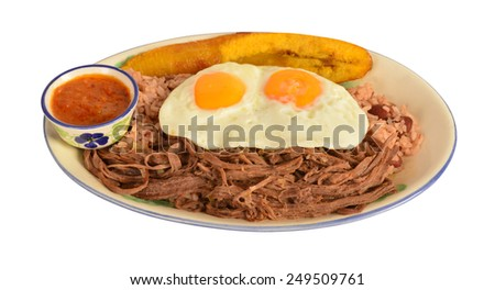 Typical Colombian meal from the city of Medellin. - stock photo