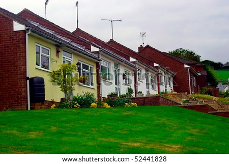 Typical council properties in the UK - stock photo