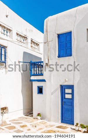 Typical cycladian house in Mykonos, Greece, Europe - stock photo